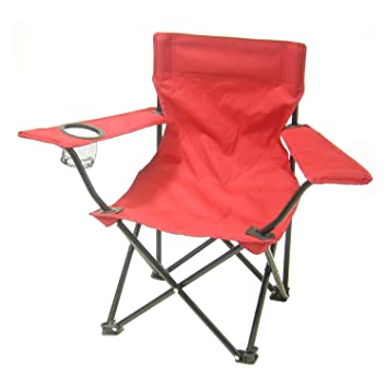 Redmon For Kids, Kids Folding Camp Chair, Red