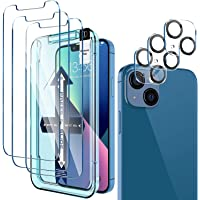 [ 3+3 Pack] LK 3Pack Screen Protector Compatible for iPhone 13 6.1-inch with 3Pack Camera Lens Protector, Anti-Scratch…