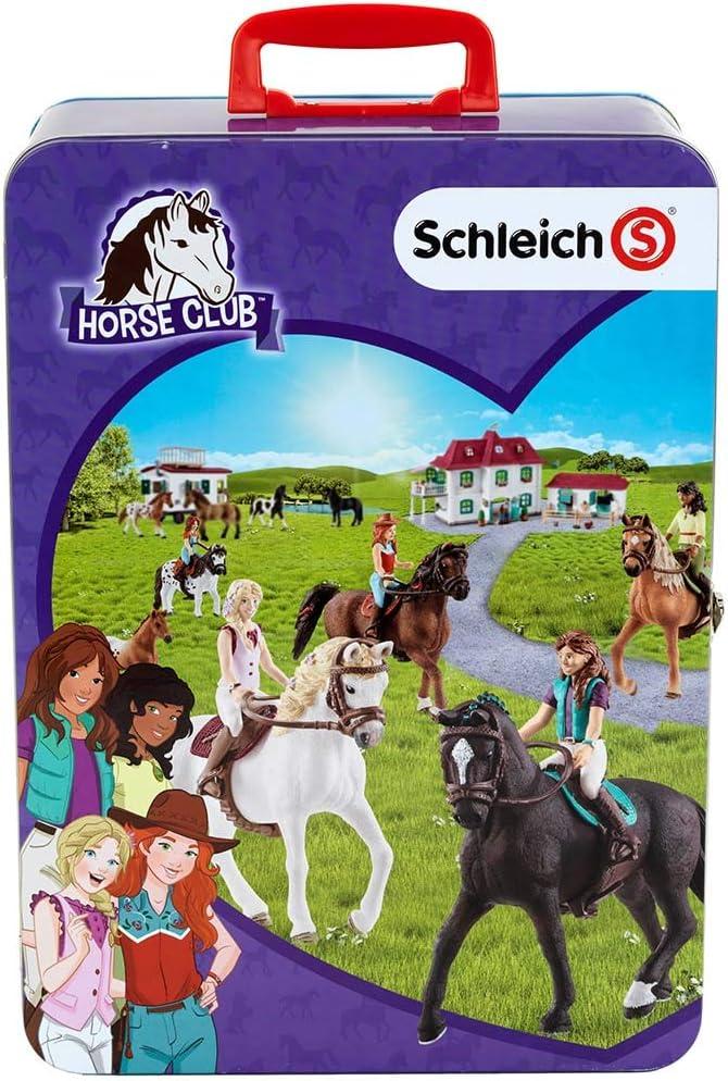 Theo Klein-3115 Schleich horse club maletin para colección para 10 caballos, juguete, Multicolor (3115)