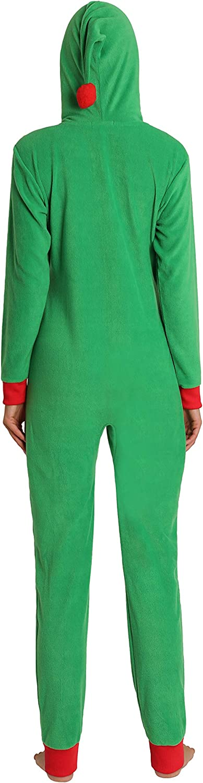 Blis Womens Adult Onesie Fleece with Hood Zipper Pajama