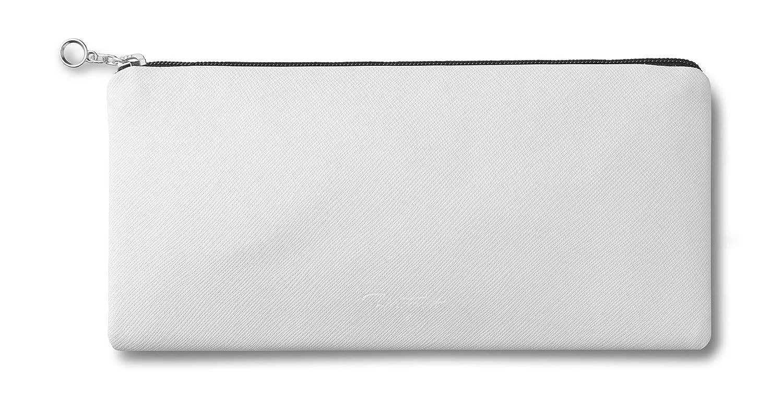 Blanco Multiusos Neceser lapicero Bolsa Cremallera para Gafas etc m/óvil