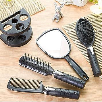 Set Spazzola Specchio.Ballylelly Plastic Hair Salon Pettine E Holder Specchio Set Spazzola Di Capelli Di Massaggio Pettine Specchio