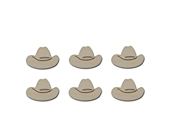 03fda389f380d Amazon.com  Cowboy Hat Shape Unfinished Wood Steer Western Wooden ...