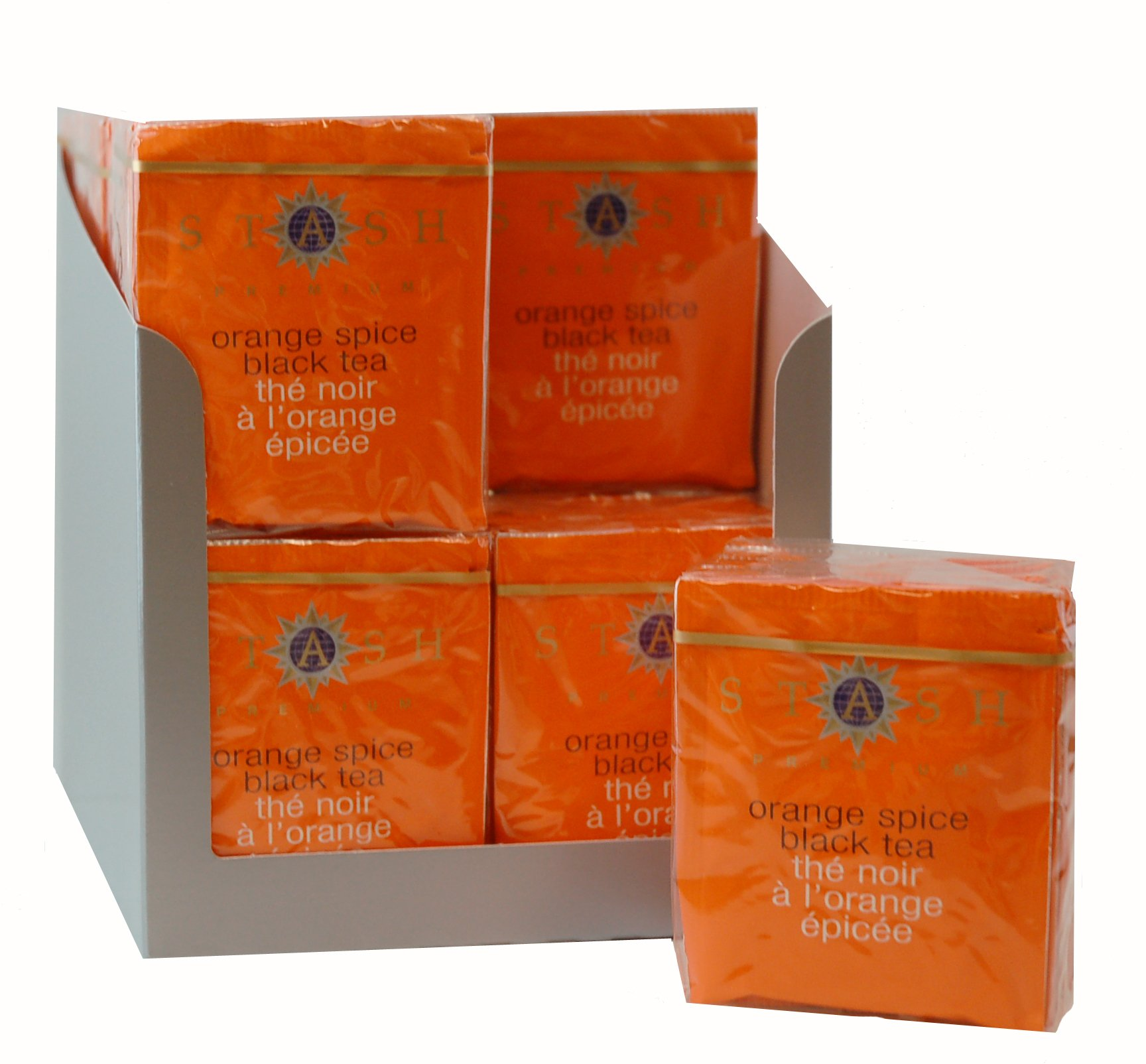 Stash Tea Orange Spice Black Tea 10 Count Tea Bags in Foil (Pack of 12) (packaging may vary) Individual Black Tea Bags for Use in Teapots Mugs or Cups, Brew Hot Tea or Iced Tea by Stash Tea (Image #1)