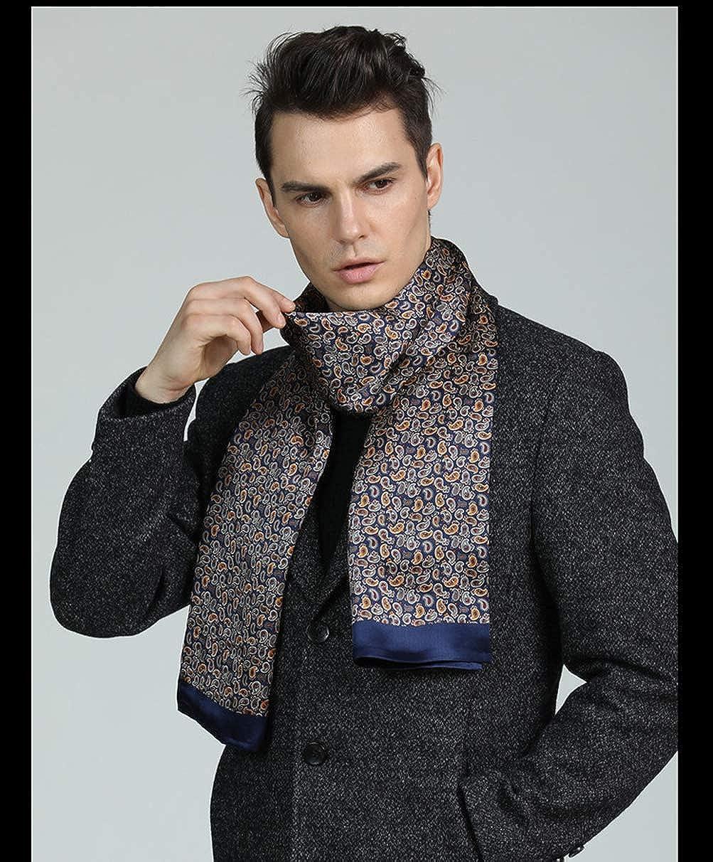 Pañuelo de seda para hombre, con estampado de cachemira, 100% seda ...