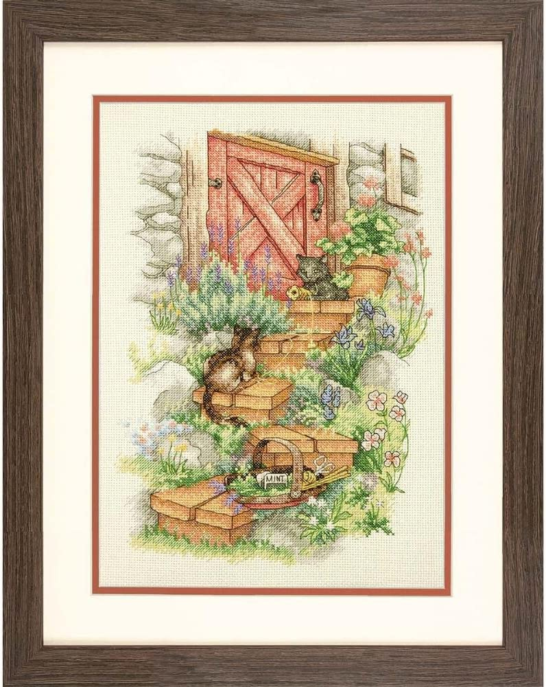 Dimensions 'Garden Steps' Counted Cross Stitch Kit, 14 Count Ivory Aida Cloth, 10'' x 14''