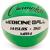 Champion Deporte de Piel balón Medicinal, 14-15 Lbs, Green, 14-15 Lbs