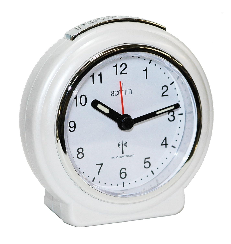 Acctim 71252 Pegasus - Reloj despertador analógico, color perla: Amazon.es: Hogar