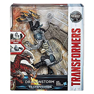Transformers: The Last Knight Premier Edition Leader Dragonstorm Combiner - Convertible Toy: Fight as Two Knights or One Three-Headed Dragon - Detailed Design: Hasbro: Toys & Games