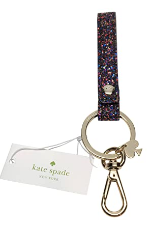 Kate Spade Laurel forma brillante cordón llavero Multi ...