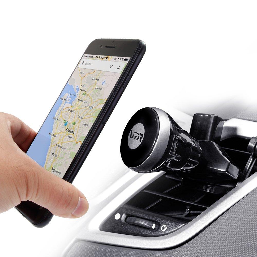 Soporte Móvil Coche con Ventosa Vacío, 360° Ajustable Salida Aire y Ranura de CD Teléfono Soporte y Montaje Phone Holder para iPhone 8/ 8 Plus/X/ 7/ 7 ...