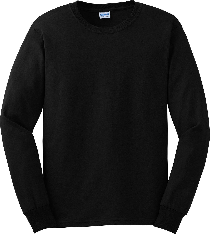Gildan Ultra Cotton 6 oz. Long-Sleeve T-Shirt, 3XL, BLACK by Gildan