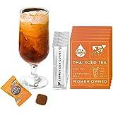 Tea Drops Thai Iced Tea | Authentic Thai Tea Mix | Flavored Black Ice Tea + Condensed Milk Packet | Loose Leaf Tea 5…
