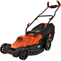 BLACK+DECKER BEMW481BH-QS Tondeuse à Gazon Filaire 6 Hauteurs, 1800 W, Orange, 42 cm