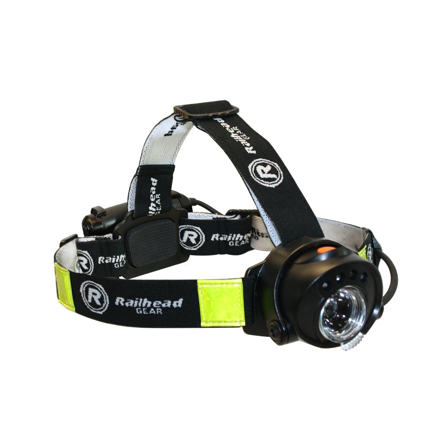 Railhead Gear 450 Lumen Focus Control, Motion Activated LED Headlamp, IPX4 Rated, Battery Pack on Back of Head with Red LED, KE-HLFC185 by Railhead Gear