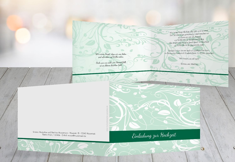 Kartenparadies Hochzeitskarte Hochzeit Einladung Blättertraum 2, hochwertige Einladung zur Heirat inklusive Umschläge   10 Karten - (Format  148x105 mm) Farbe  Schwarz B01MZBZR36   Sonderaktionen zum Jahresende    Exzellente Verarbeitung    Sc