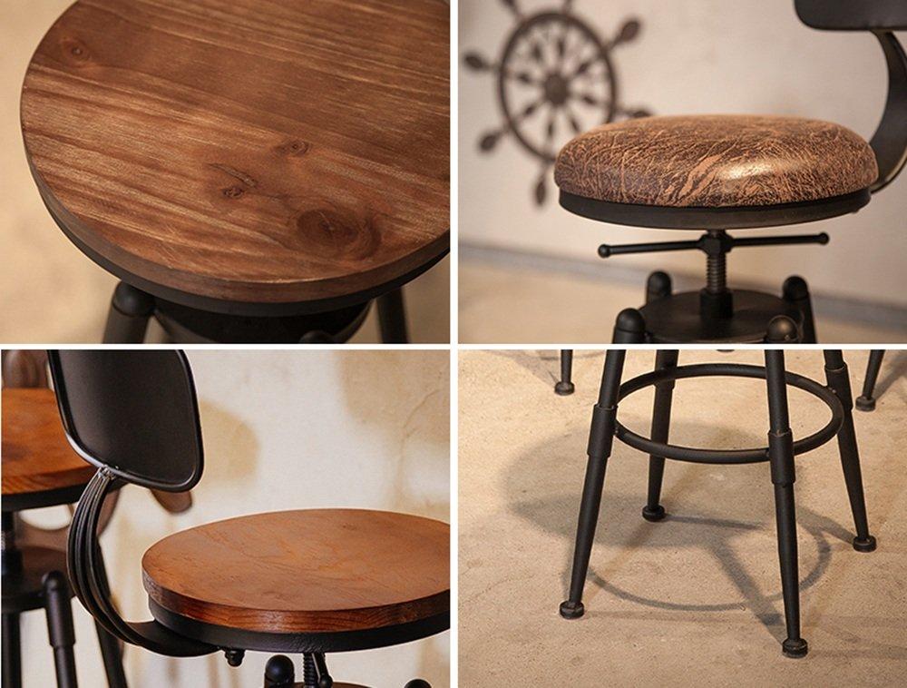 Guo shop semplice ferro cuscino sedile in legno con schienale