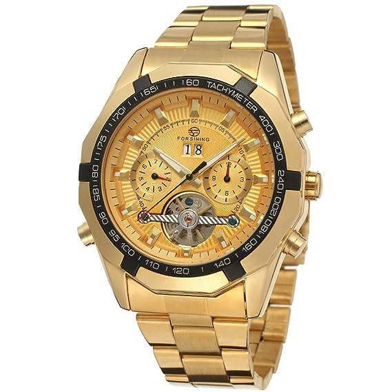 Para hombre FORSINING Lujo automático (Acero Inoxidable Calendario anglog Reloj de pulsera fsg340 m4g3: Amazon.es: Relojes