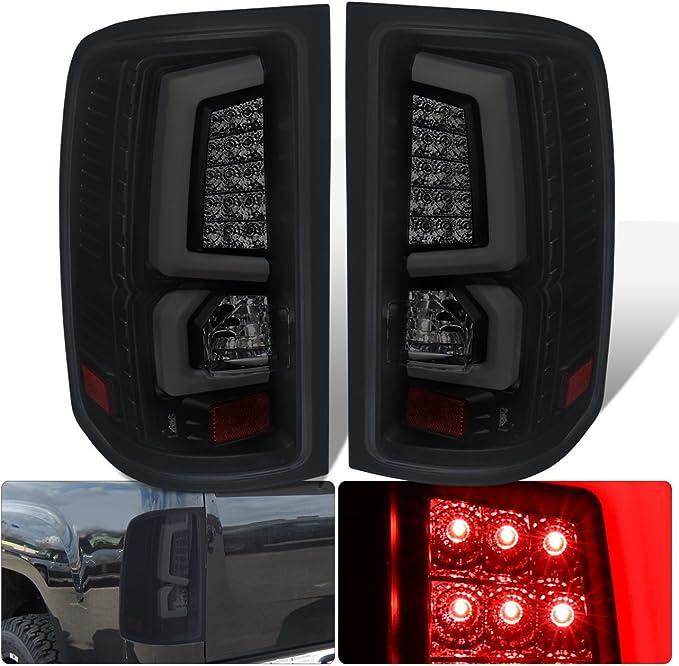 Black LED Tube Taillights Brake For 88-98 GMC Sierra 1500 2500 3500 SPARTAN
