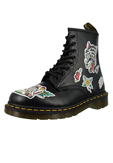 Dr Martens Unisex 1460 Grez Usa Backhand Leather Lace Up Boot Multi