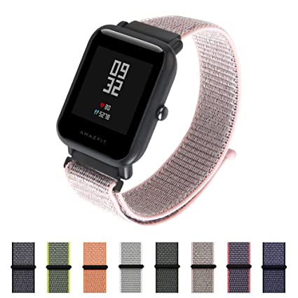 Nylon Sport Loop Band SIKAI 20mm Replacement Nylon Strap Compatible with Amazfit Bip/Huawei Watch 2 Sport/Ticwatch E Breathable with Hook and Loop ...