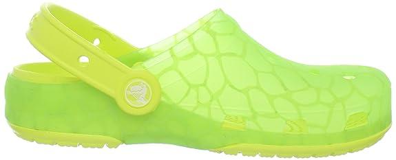 Crocs - Chameleons Translucent Reptil - Lime Citrus, Größe:21-22