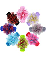 ROEWELL Baby's Headbands Girl's Cute Hair Bows Hair bands Newborn headband (8 pcs/lot)