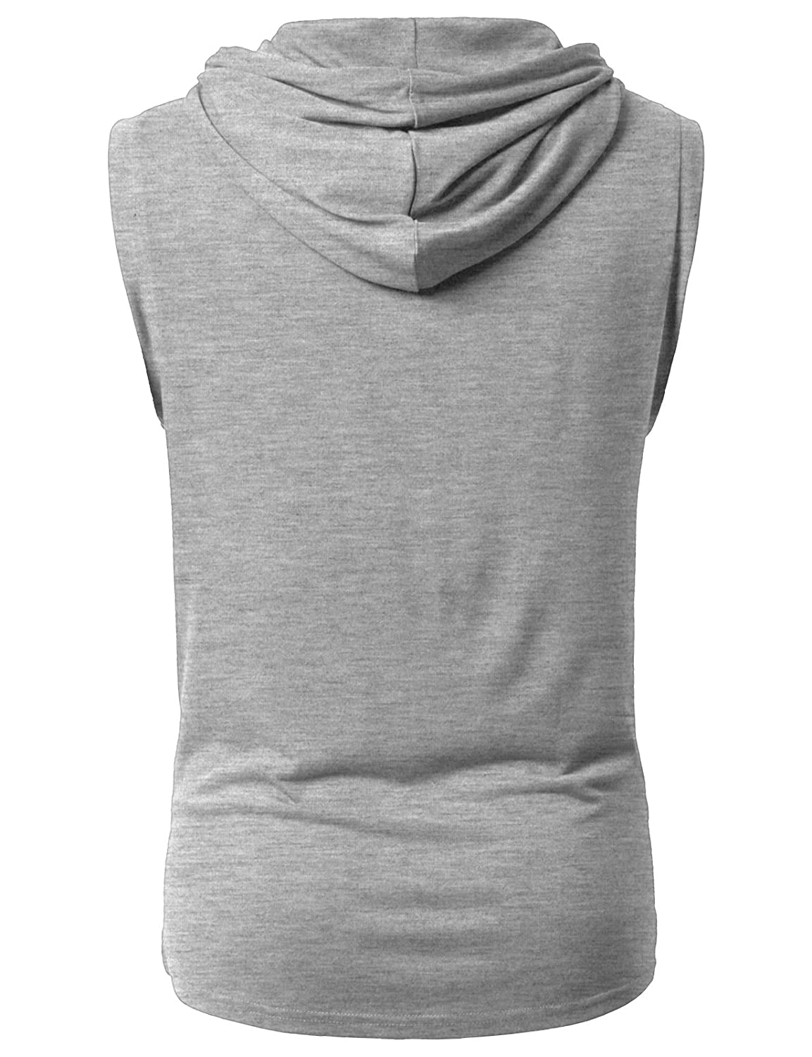 db27f4acc51e5 Details about H2H Mens Casual Tank-Top Hoodie Sleeveless Hipster Hip Hop  Long-line with Pocket