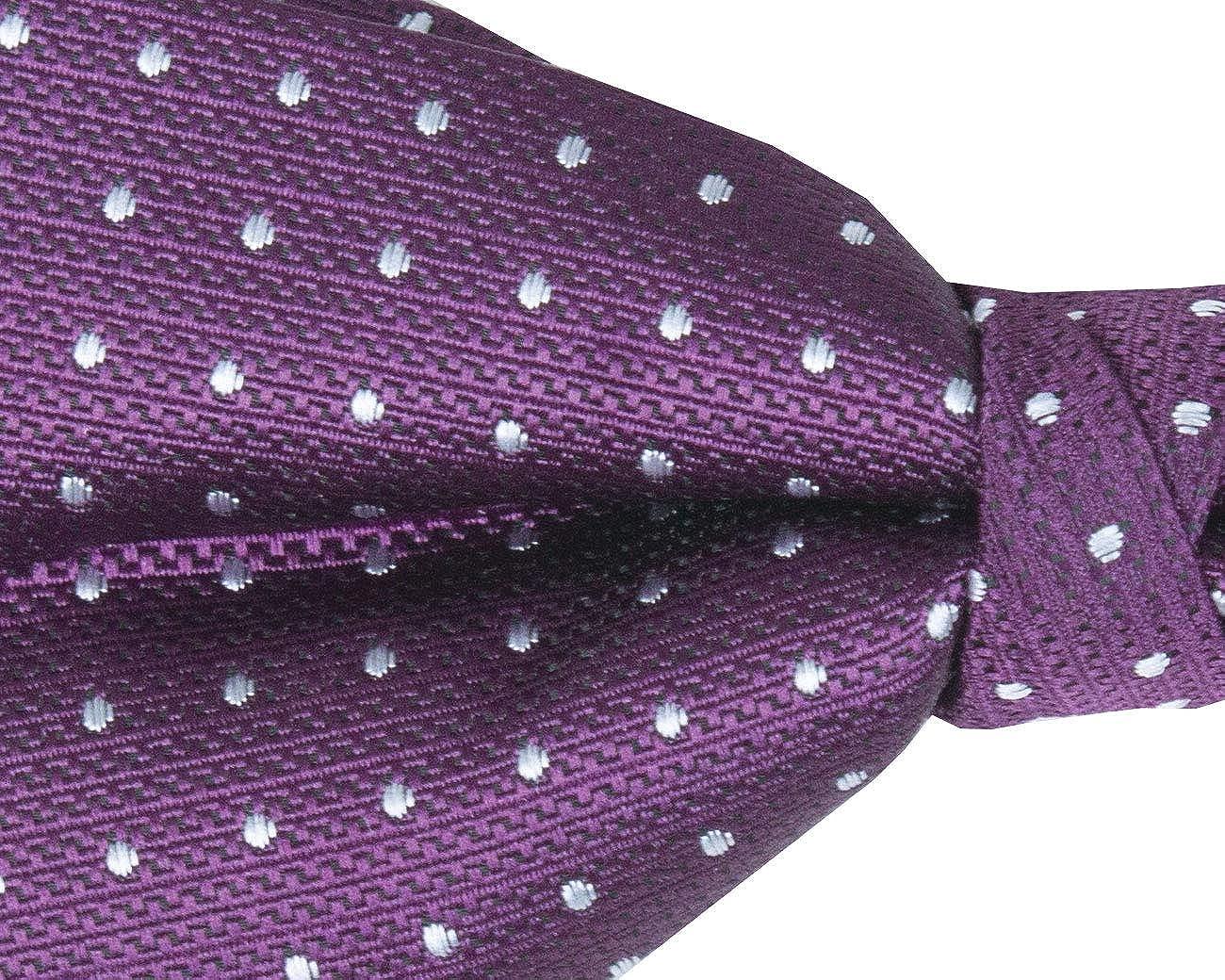 Dobell Mens Purple Textured Spots Bow Tie Pre-Tied