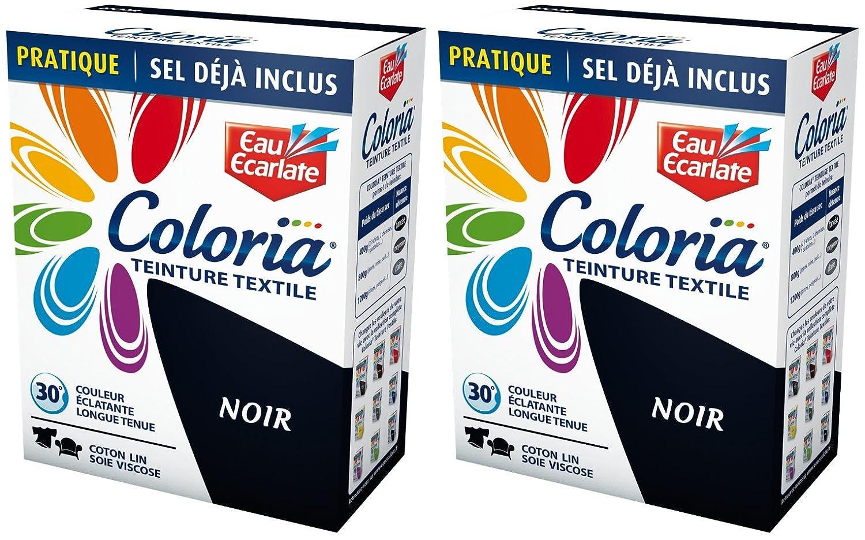 coloria teinture pour textiles maxi format avec sel inclus noir 2 sachets de 50 g - Colorant Vetement