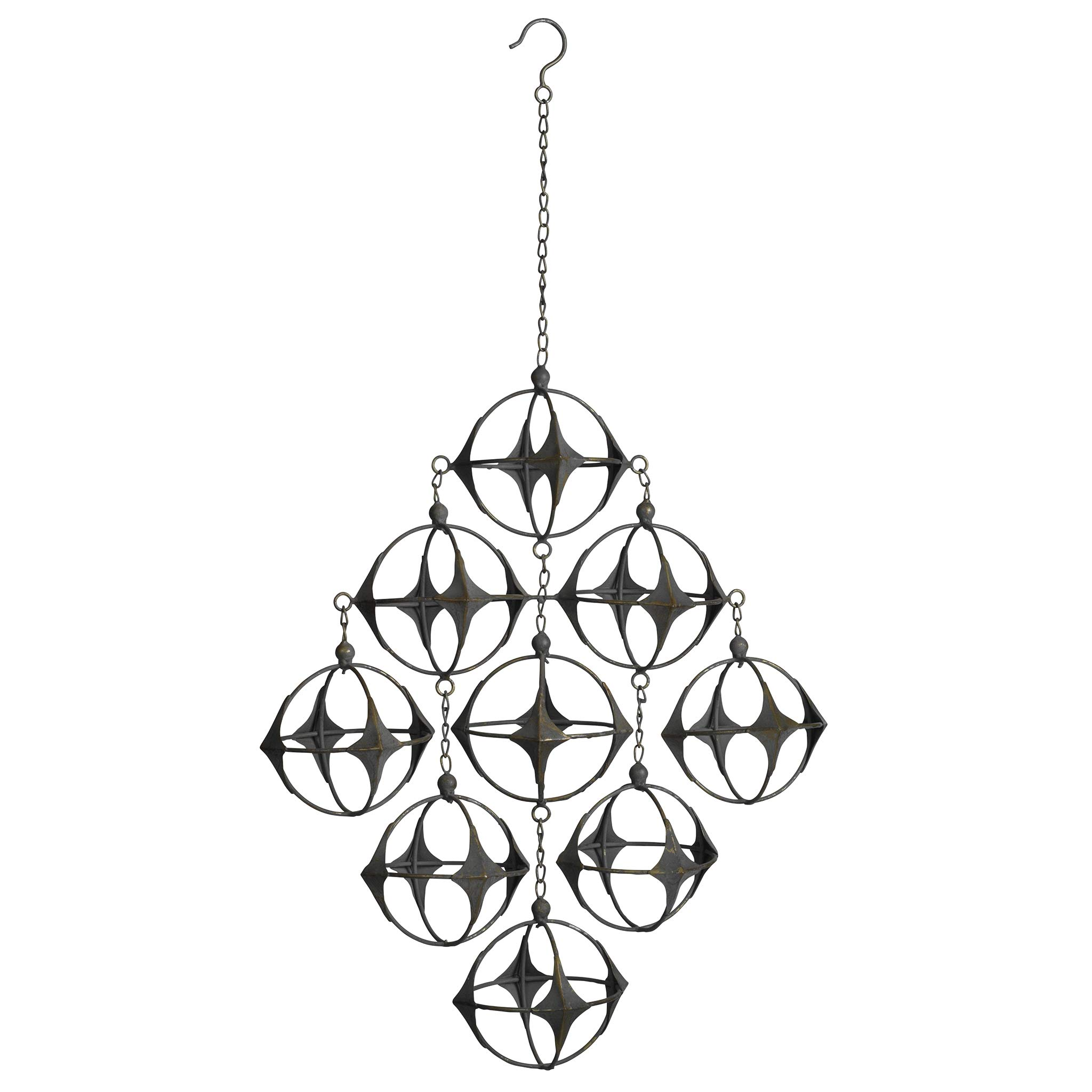 Design Toscano Kinetic Constellation Futuristic Mobile Hanging Sculpture, 6 Inches, Antique Bronze by Design Toscano