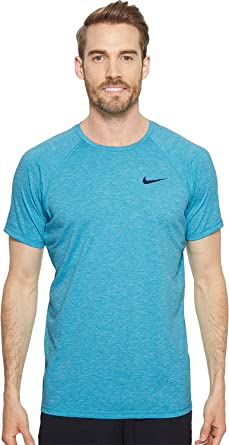 4d2500f70 Nike NESS8534 Men's Heather Short Sleeve Hydroguard at Amazon Men's  Clothing store: