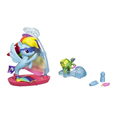 My Little Pony: The Movie Rainbow Dash Undersea Sports: Toys & Games