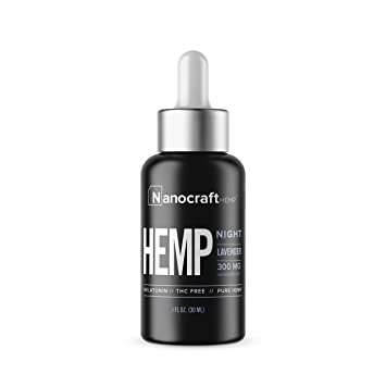 Nanocraft Hemp Oil Melatonin Sleep Formula | 300mg | Sleep Deeply Relieve Stress and Pain |...