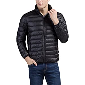 Quickshark Mens Down Jacket Packable Winter Puffer Jacket Lightweight Puffer Coat