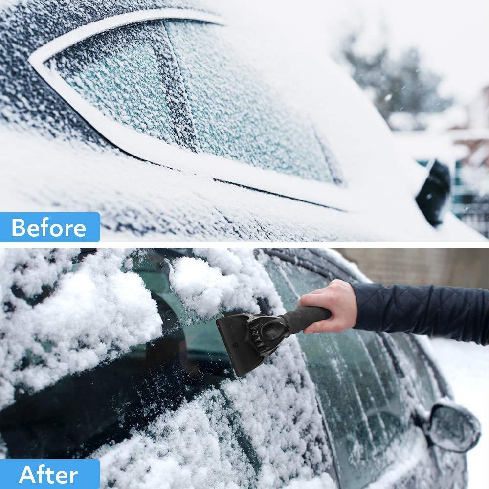 Parabrezza e Neve Strumento per Rimuovere Ghiaccio e Neve dal Parabrezza 2 Pezzi Raschietto per Ghiaccio per Auto Parabrezza Edupp