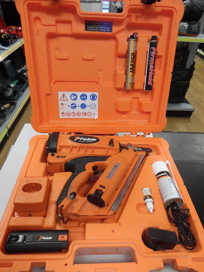 PASLODE IM350 + Gas-Nagler - 90mm (014801) **UK PLUG Lieferung mit ...