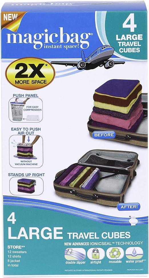 Compression Vacuum Bag Travel Luggage Cloth Storage Air Tight Space Saver Zipper
