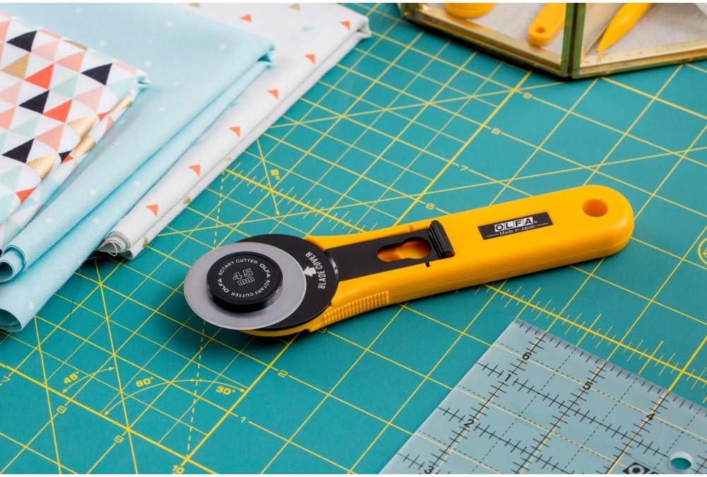 Olfa 45mm Cortador Rotatorio Trimmer-Cambio Rápido RTY-2C\YEL Tarjeta de tela de acolchar