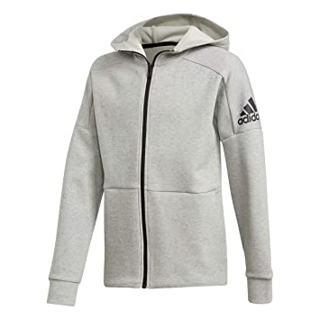 adidas Jungen Full Zip Kapuzen-Jacke, Stadium Heather Ash Silv, 116 41ef18fdc3