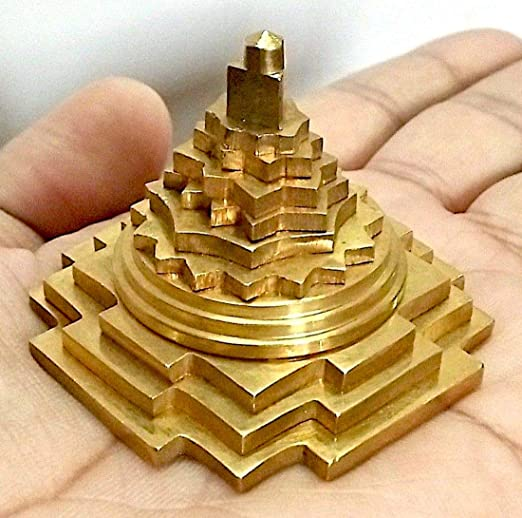 Meru Shree Yantra Shri Yantra With 3 D cutting 6 inches Shri Laxmi Yantra
