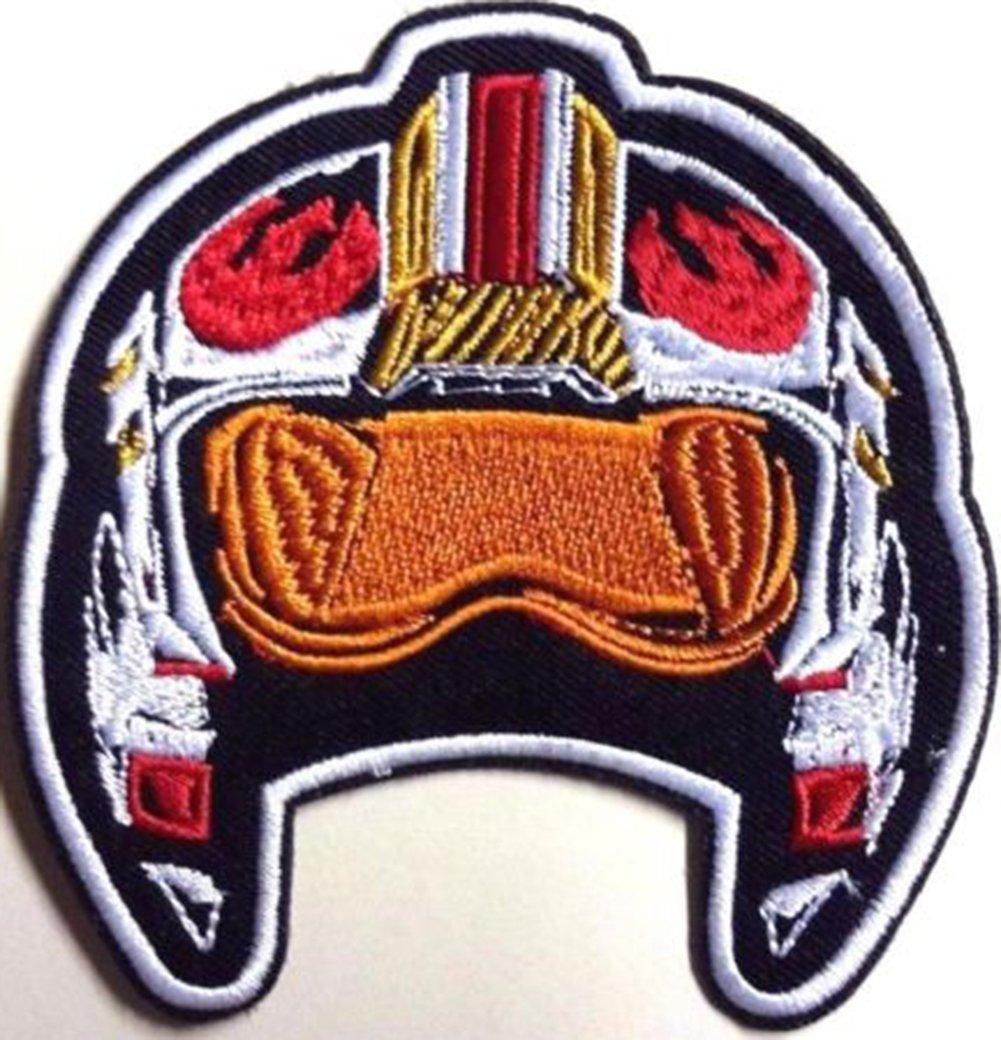 Star Wars Rebel Pilot blanco Frontera bordado insignia parche para coser o planchar 8, 25cm) Wardah Limited