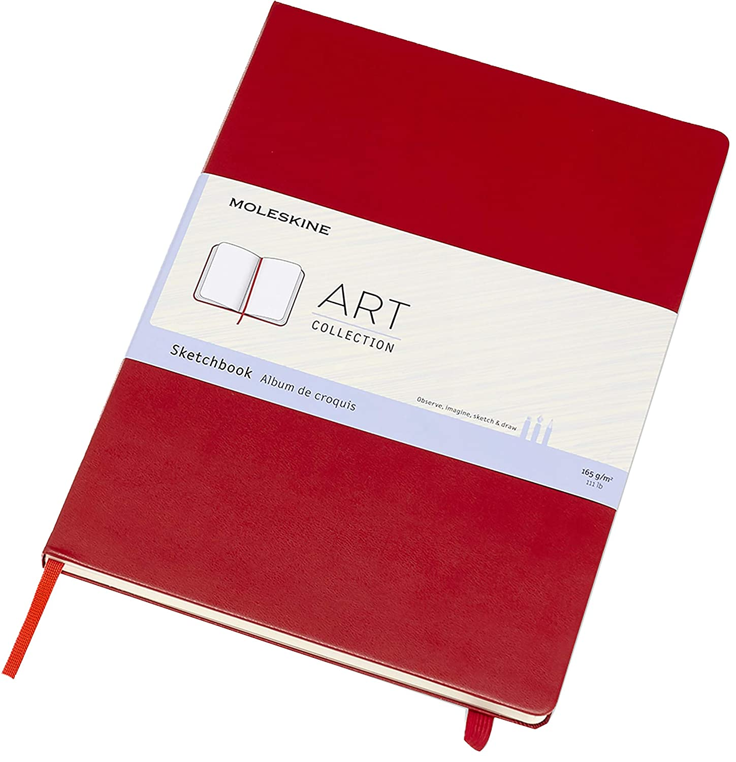 Moleskine 21 x 29.7 cm A4 Size Art Collection Sketchbook Album for Sketching Hard Cover Paper Suitable for Pens Pencils and Pastels 96 Pages Colour Scarlet Red