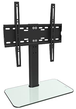 RICOO Meuble TV Design FS304W Support sur Pied en Verre Suspension LED LCD  Plasma QE OLED ea3c84daf65a