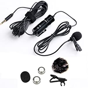 Boya 3.5mm Mini Clip on Mic Omnidirectional Lavalier Label Microphone-20ft Audio Cable- for DSLRs Camcorders Video Cameras and Iphone(Iphone 6) Samsung Smartphone Film Cameras at amazon