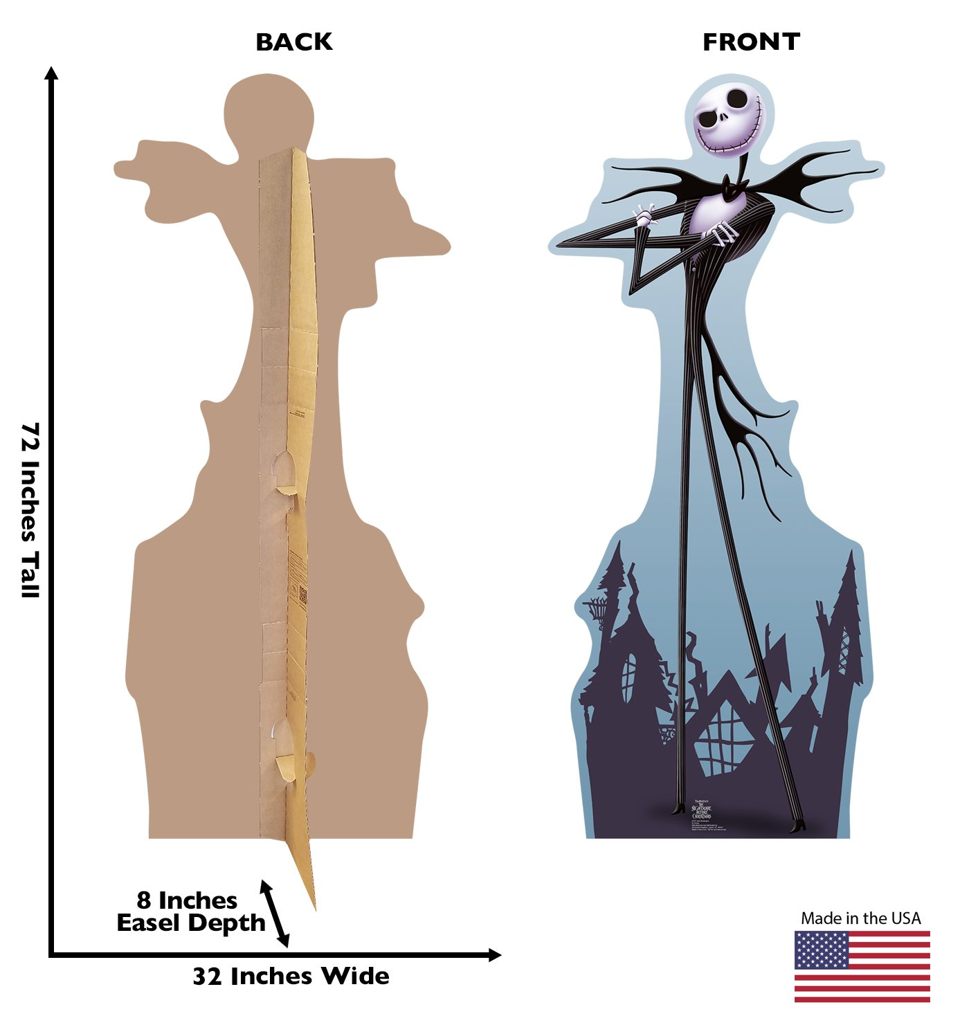Advanced Graphics Jack Skellington Life Size Cardboard Cutout ...