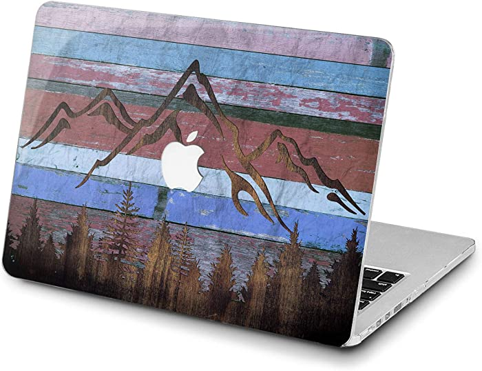 Lex Altern Hard Case for Apple MacBook Pro 15 Air 13 inch Mac Retina 12 11 2020 2019 2018 2017 2016 Forest Reclaimed Cover Protective Wooden Blue Grunge Planks Plastic Mountain Touch Bar Laptop