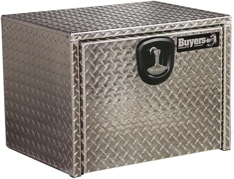 Buyers Products Diamond Tread Aluminum Underbody Truck Box w// T-Handle Latch 18x18x30 Inch