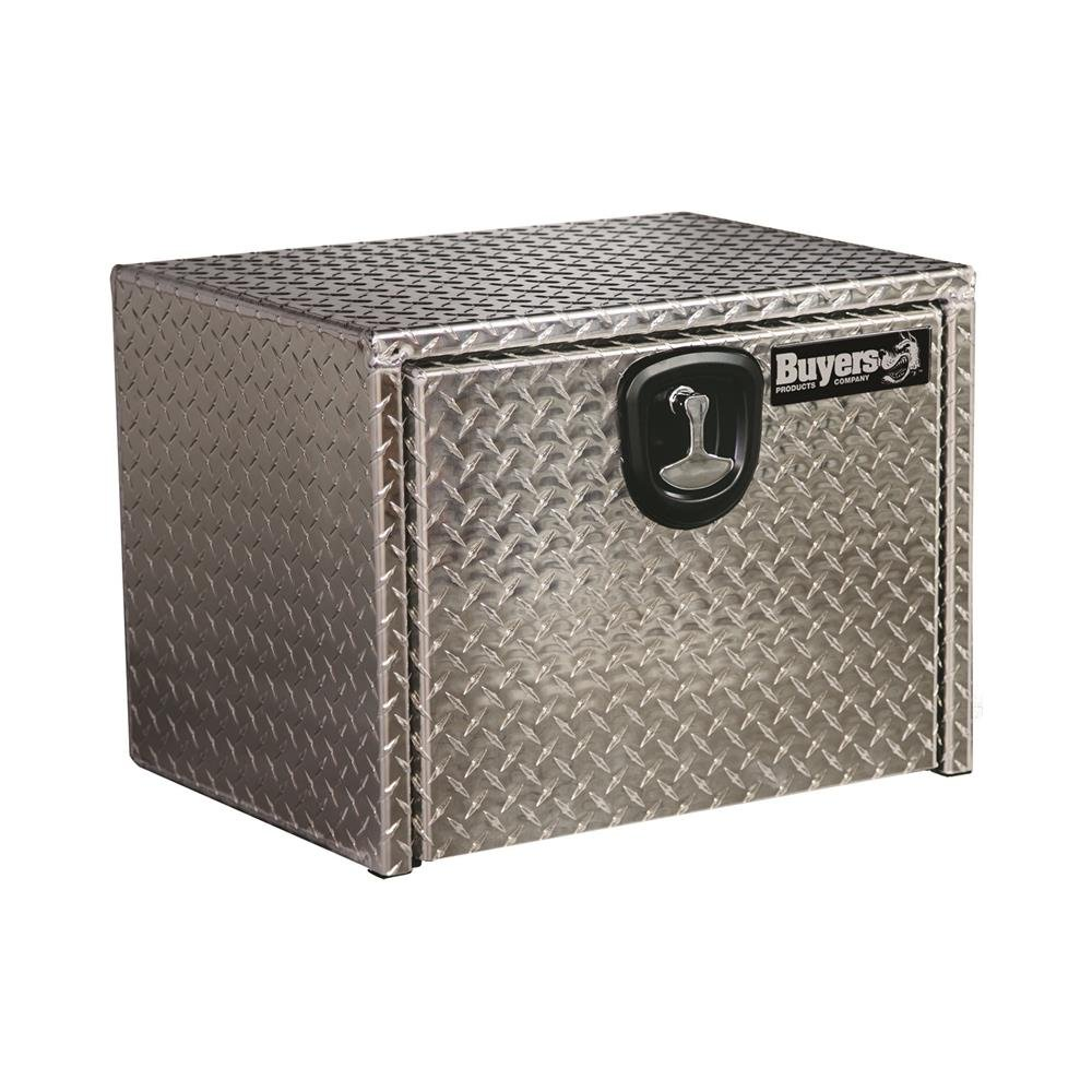 Buyers Products 1705102 Diamond Tread Aluminum Underbody Truck Box with T-Handle Latch (18x18x14 Inch)