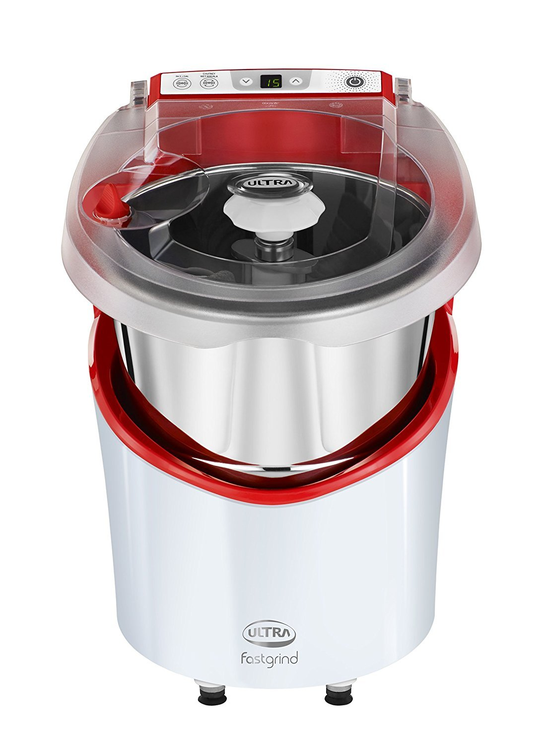 Elgi Ultra Plastic Fast Grind Table Top Wet Grinder, Fortune Red (2 litre)